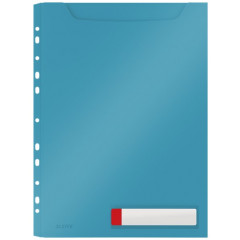 Harmonica zichtmap Leitz Cosy PP A4 met 11-gaatse perforatiestrip sereen blauw (3)