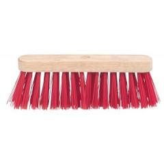 Schuurborstel met PVC haren uit ongelakt hout 29cm
