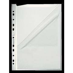 Showtas Leitz Premium PP A4 130µ 11-gaats 2 open zijden gekorreld transparant (100)
