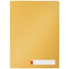 Zichtmap Leitz Cosy Privacy PP A4 met 3 compartimenten warm geel (3)