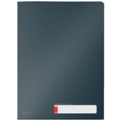 Zichtmap Leitz Cosy Privacy PP A4 met 3 compartimenten fluweel grijs (3)