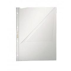 Showtas Leitz voor overheadprojectoren PP A4 80µ 4-gaats 2 open zijden glashelder transparant (100)