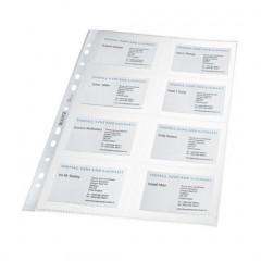 Showtas Leitz Premium voor visitekaarten PP A4 110µ 11-gaats glashelder transparant (10)