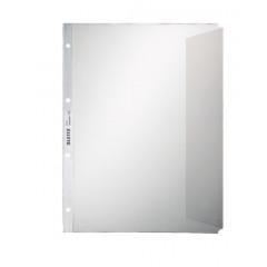 Showtas Leitz Premium PP A4 130µ 4-gaats met klep gekorreld transparant (100)(107043)