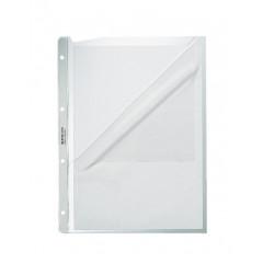 Showtas Leitz Premium PP A4 130µ 4-gaats 2 open zijden gekorreld transparant (100)(4780003)