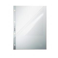 Showtas Leitz Premium PP A4 130µ 4-gaats 2 open zijden geperforeerd gekorreld transparant (100)
