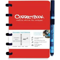 Schrift Correctbook A6 gelijnd herbruikbaar rood