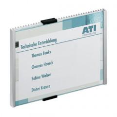 Deurnaamhouder Durable Info Sign A5 dwars metaal/zilver (D480523)