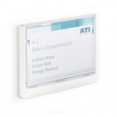 Deurnaamhouder Durable Click Sign A6 blauw