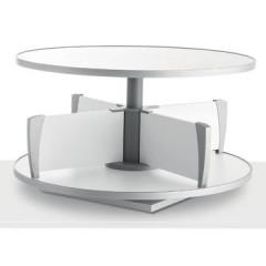 Klasseerzuil Moll Multifile tafelmodel voor 24 ordners wit
