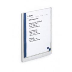 Deurnaamhouder Durable Click Sign A4 blauw