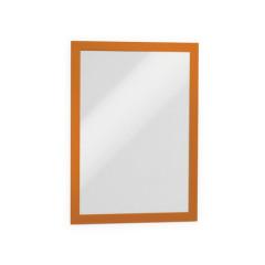 Ophangtas Durable Duraframe zelfklevend A4 oranje (2)