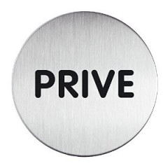 "Pictogram Durable ""PRIVE"" Ø83mm zilver"