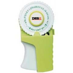 Lettertang Desq inclusief een rol groene tape 9mmx3m