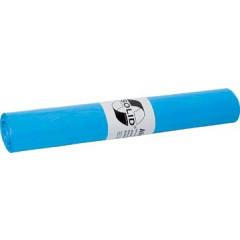 Vuilniszak 90x110cm 120l 22µ HDPE blauw (25) (151V)