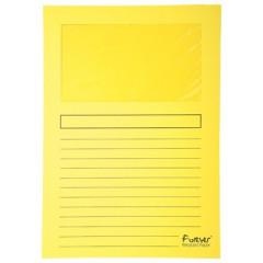 L-map Exacompta Forever karton A4 120g met venster geel (100)