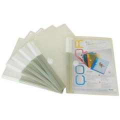 Documentmap Tarifold A4 met velcro transparant (5)