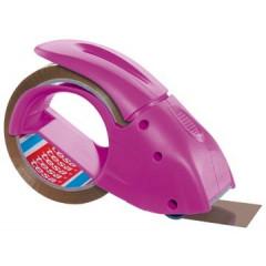 Afroller Tesa Pack'nGo voor verpakkingsplakband max 50mm roze