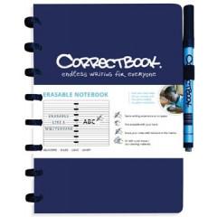 Schrift Correctbook A5 gelijnd herbruikbaar blauw