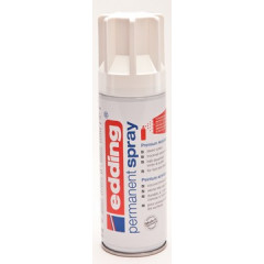 Acrylverf Edding 5200 Permanent Spray Premium 200ml verkeerswit glanzend