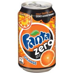 Frisdrank Fanta sinaas zero 33cl blik (24)