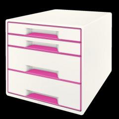 Ladenblok Leitz WOW 4 laden wit/roze metallic (5213223)