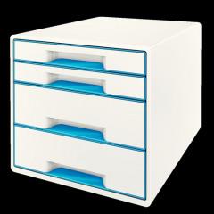 Ladenblok Leitz WOW 4 laden wit/blauw metallic (5213236)