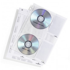 Showtas Durable voor 4 CD's/DVD's PP transparant (5)
