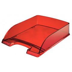 Brievenbak Leitz Plus PS A4 transparant rood (2260028)