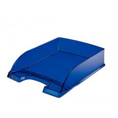 Brievenbak Leitz Plus PS A4 transparant blauw (2260039)