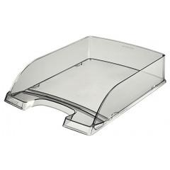 Brievenbak Leitz Plus PS A4 transparant rookglas (2260092)