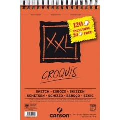 Schetsboek Canson XXL A4 90g 100+20 vel gratis