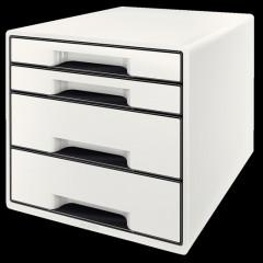Ladenblok Leitz WOW 4 laden wit/zwart metallic (52132095)