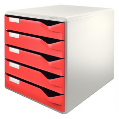 Ladenblok Leitz 5 laden grijs/rood (2800025)