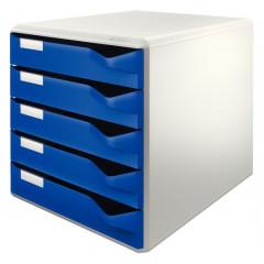 Ladenblok Leitz 5 laden grijs/blauw (2800035)