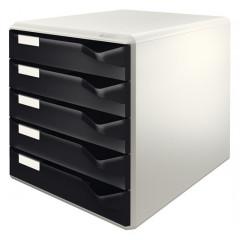 Ladenblok Leitz 5 laden grijs/zwart (528095)
