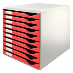 Ladenblok Leitz 10 laden grijs/rood (2810025)
