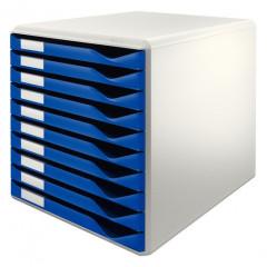 Ladenblok Leitz 10 laden grijs/blauw (2810035)