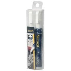Krijtmarker Securit Waterproof medium ronde punt 2-6mm wit (2)