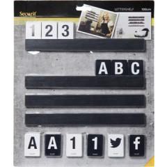 Letterplank Securit inclusief letters en nummers zwart