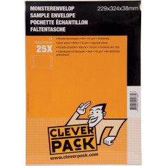 Monsterenvelop Cleverpack 229x324x38mm met strip wit (25)