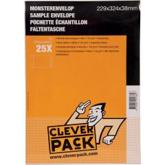 Monsterenvelop Cleverpack 229x324x38mm met strip wit (25)