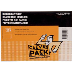 Bordrugenvelop Cleverpack 162x229mm met strip wit (25)