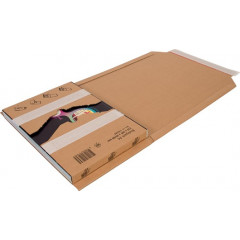 Wikkelverpakking Cleverpack Golfkarton 215x305x20/80mm (10)