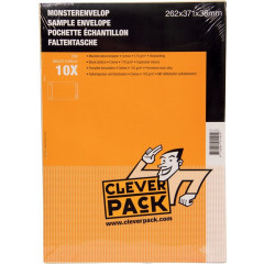 Monsterenvelop Cleverpack 262x371x38mm met strip crème (10)