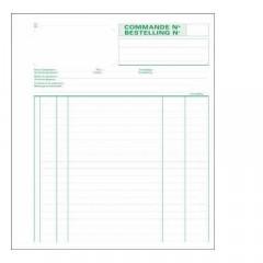 Bestelbonboek Exacompta 21x18cm 2-voud NCR ned/fr 50sets