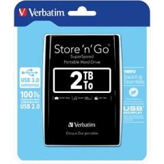 Harde schijf Verbatim Store 'n' Go 3.0 2TB zwart