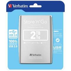 Harde schijf Verbatim Store 'n' Go 3.0 2TB zilver