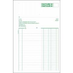 Factuurboek Exacompta 21x13,5cm tweetalig 2-voud