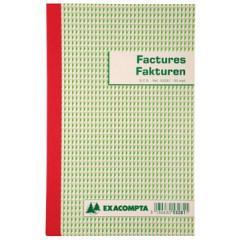 Facturen Exacompta karton 21x13,5cm 50blad tripli tweetalig
